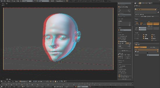 Blender multiview anaglyph display