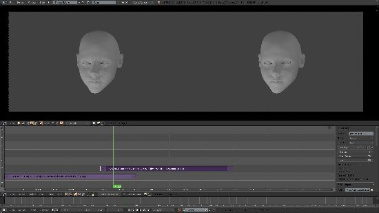 Blender stereoscopic video editor